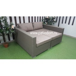 Плетеная мебель лежак-кровать «Louisiana» mocco