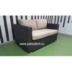 Плетеный диван «Acoustic» brown 2-х местный