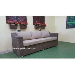 Плетеный диван «Glendon» beige 3-х местный