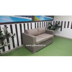 Плетеный диван «Louisiana» mocco 2-х местный
