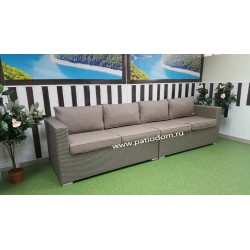 Плетеный диван «Louisiana» mocco 4-х местный