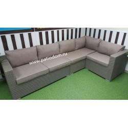 Плетеный диван угловой «Louisiana» mocco2