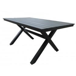 "Обеденный стол ""Aroma black"" 150х90 см из алюминия"