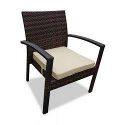 "Плетеное кресло для отдыха ""Milano"" dark brown"