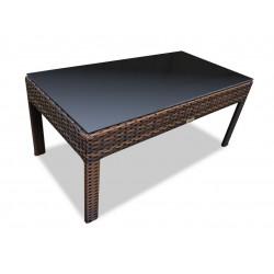 "Плетеный кофейный стол ""Milano"" dark brown 98х50 см"
