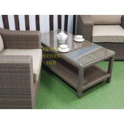 Плетеный кофейный стол «Glendon» 120х60 см