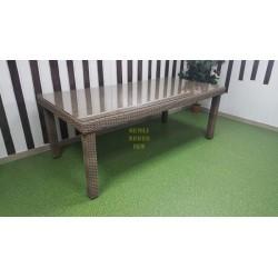 Плетеный обеденный стол «Infinity» 160х90 см