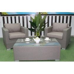 Плетеный кофейный стол «Louisiana» 120х60 см