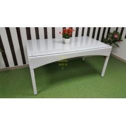 Плетеный обеденный стол «Louisiana» white 160х90 см