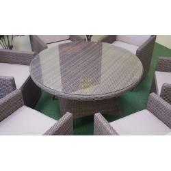 Плетеный обеденный стол «Nina» beige D150