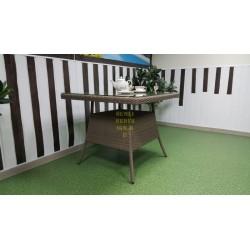 Плетеный стол «Samurai» beige 90х90 см