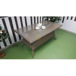 Плетеный стол «Samurai» beige 160х90 см