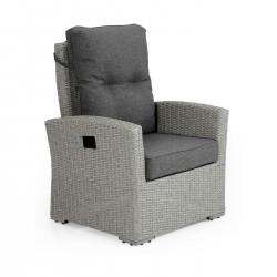 """Плетеное регулируемое кресло """"Ashfield"""" grey"""