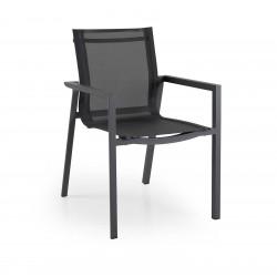 """Кресло из алюминия и текстилена """"Delia"""", цвет темно-серый"""