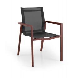 """Кресло из алюминия и текстилена """"Delia"""", цвет красный"""
