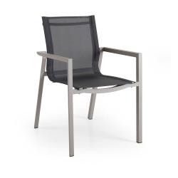 "Кресло из алюминия и текстилена ""Delia"", цвет хаки"