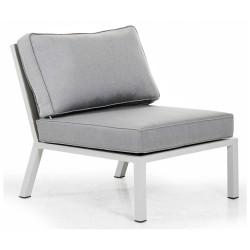"""Центральная секция модульного дивана из алюминия """"Belfort"""" white"""
