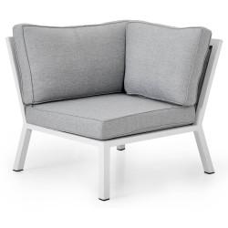 """Угловая секция модульного дивана из алюминия """"Belfort"""" white"""