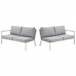 """Торцевые секции модульного дивана из алюминия """"Belfort"""" white"""