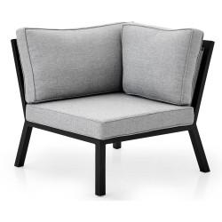 """Угловая секция модульного дивана из алюминия """"Belfort"""" black"""