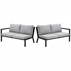 """Торцевые секции модульного дивана из алюминия """"Belfort"""" black"""