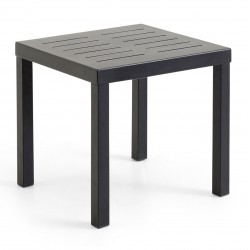 "Стол из алюминия ""Belfort"" black 50х50"
