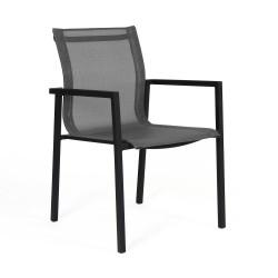 "Кресло из алюминия и текстилена ""Belfort"" black"