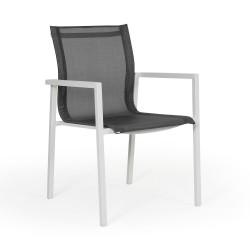 """Кресло из алюминия и текстилена """"Belfort"""" white"""