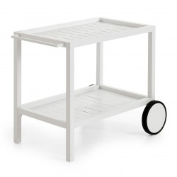 """Стол сервировочный из алюминия """"Belfort"""" white 82х71"""