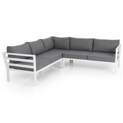 """Садовая мебель из алюминия """"Weldon"""" white, угловой диван"""