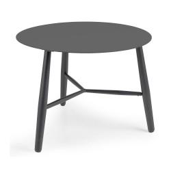 """Стол из алюминия """"Vannes""""  D60, цвет антрацит"""