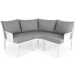"""Садовая мебель из алюминия """"Morzine"""" white, угловой диван малый"""