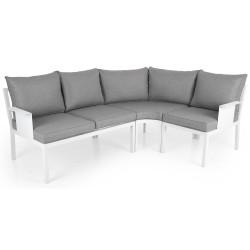 """Садовая мебель из алюминия """"Morzine"""" white, угловой диван большой"""