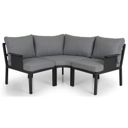 """Садовая мебель из алюминия """"Morzine"""" dark grey, угловой диван малый"""