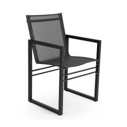 """Кресло обеденное из алюминия """"Vevi"""" black"""