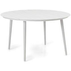 "Стол из алюминия ""Grandby"" white D130"