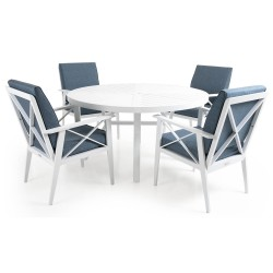 """Обеденная группа из алюминия """"Sottenville"""" с круглым столом"""