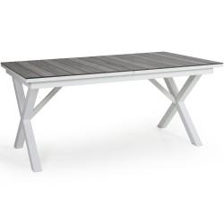 """Стол из алюминия """"Hillmond"""", цвет белый/серый,  раздвижной 166/226х100"""