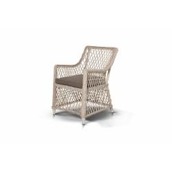 """Плетеное кресло """"Латте"""" белое"""