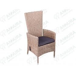 """Кресло плетеное """"Capri"""" позиционное натуральное"""