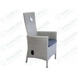 """Кресло плетеное """"Capri"""" позиционное серое"""