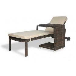 """Плетеная мебель """"Milano 2"""", шезлонг и приставной столик"""