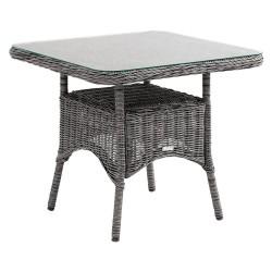 """Плетеный стол """"Rosita"""" grey 80х80"""