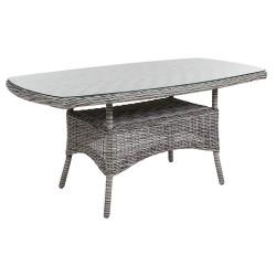 """Плетеный стол """"Rosita"""" grey 150х80"""
