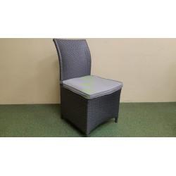 Плетеный стул «Rose» grey