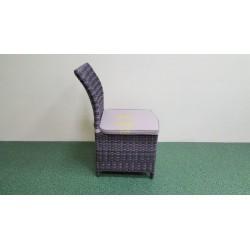Плетеный стул «Rose» brown grey