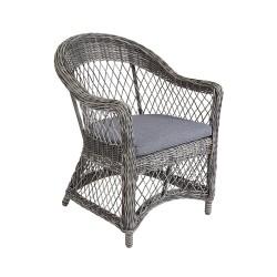 "Плетеное кресло ""Kamomill"", цвет серый"