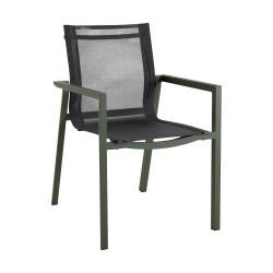 """Кресло из алюминия и текстилена """"Delia"""", цвет зеленый"""