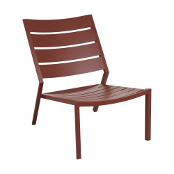 """Лаунж-кресло из алюминия """"Delia"""", цвет красный"""