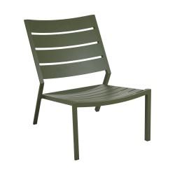 """Лаунж-кресло из алюминия """"Delia"""", цвет зеленый"""